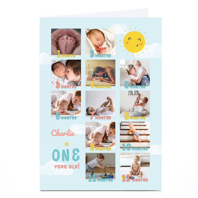 Personalised Photo Card - One Year Old