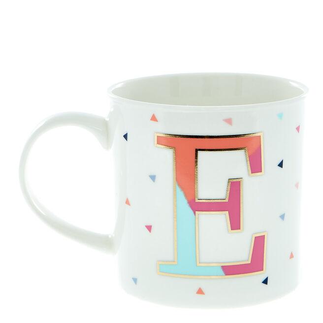 Letter E Alphabet Mug