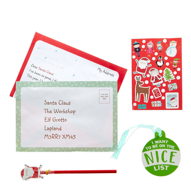 Letter to Santa Writing Set & Tree Hanger