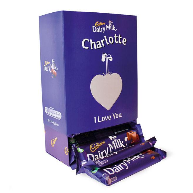 Personalised Cadbury Dairy Milk Box - 20 Bars