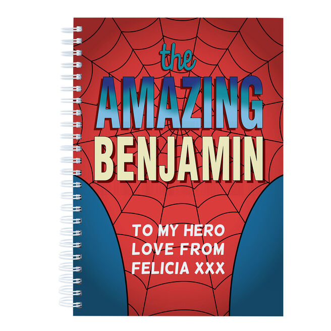 Personalised The Amazing Suit Notebook