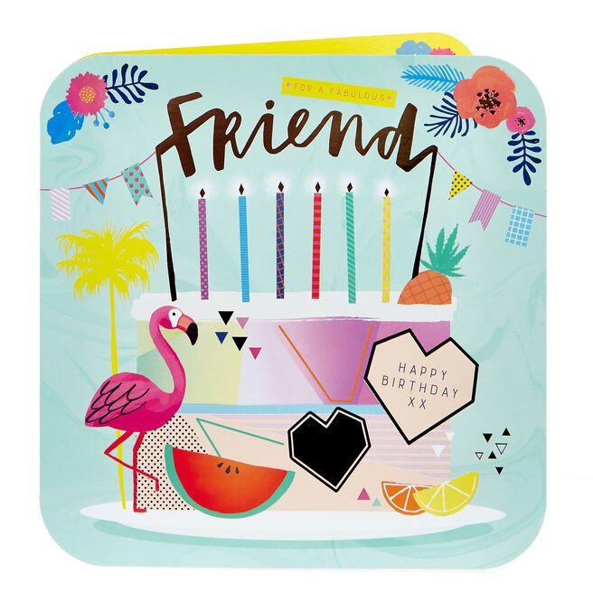 Platinum Collection Birthday Card - Fabulous Friend, Tropical