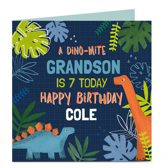 Personalised Birthday Card - Name and Age