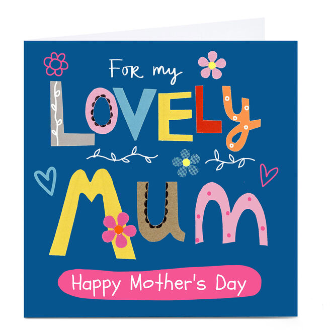 Personalised Lindsay Loves To Draw Card - Lovely Mum