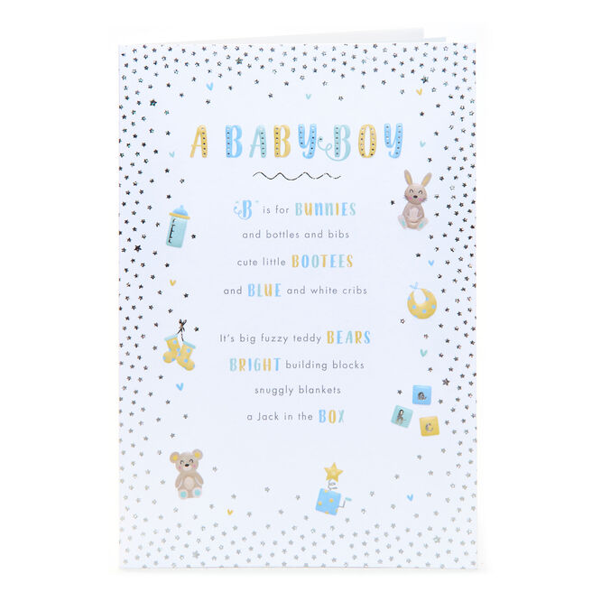 New Baby Card - A Baby Boy