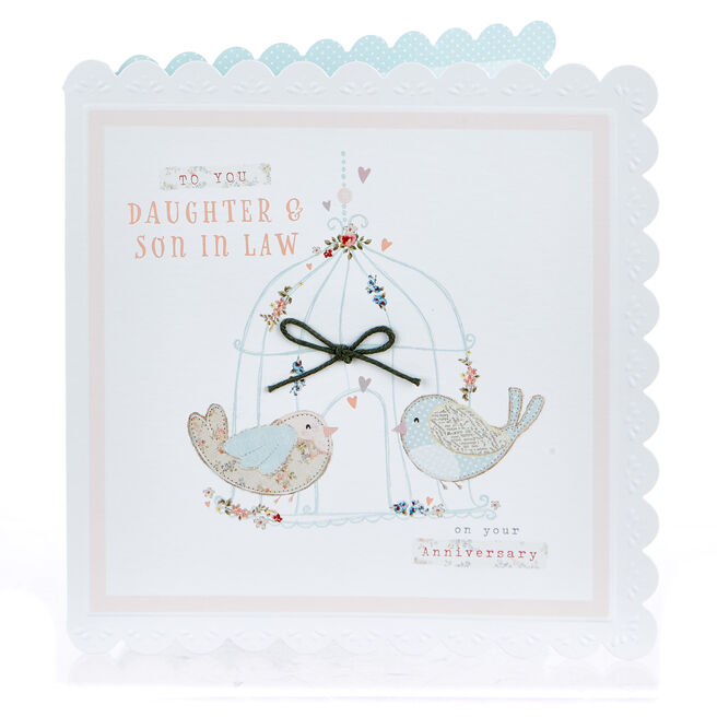 Boutique Collection Anniversary Card - Daughter & Son In Law