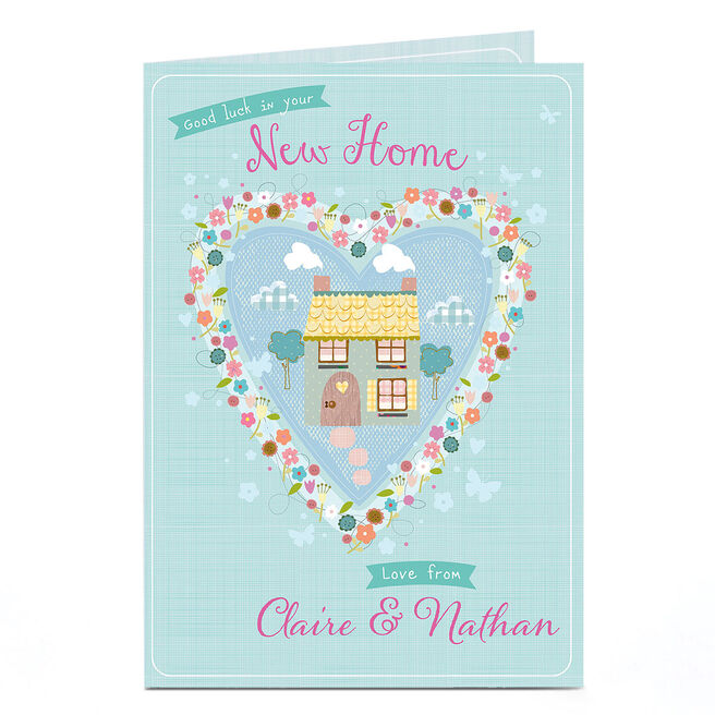 Personalised New Home Card - House In A Heart