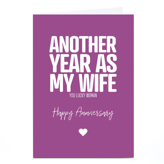 Personalised Punk Cards Anniversary Card - Another Year
