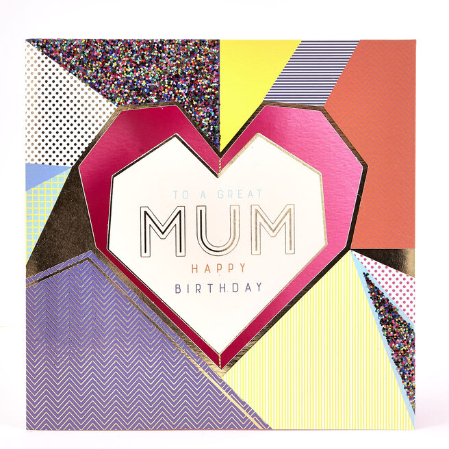 Exquisite Collection Birthday Card - Mum Heart