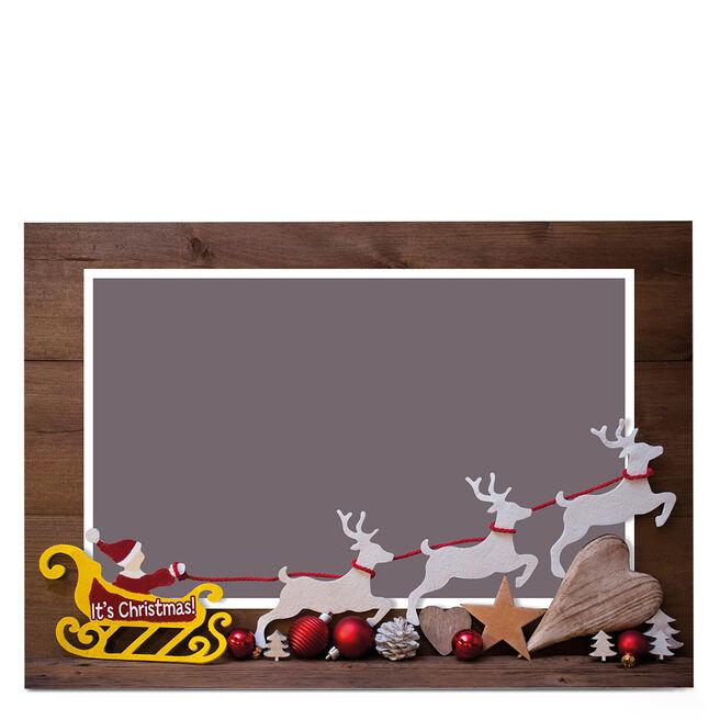 Photo Business Christmas Card - Santa's Sleigh