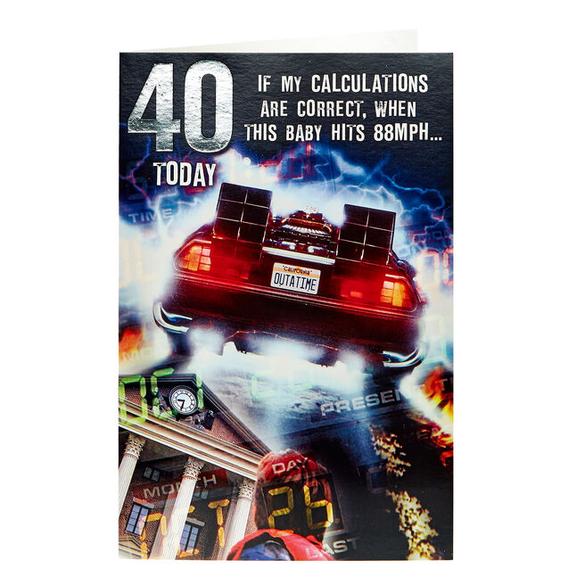 Back To The Future 40th Birthday Card