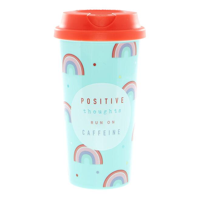 Positive Thoughts Rainbow Travel Mug