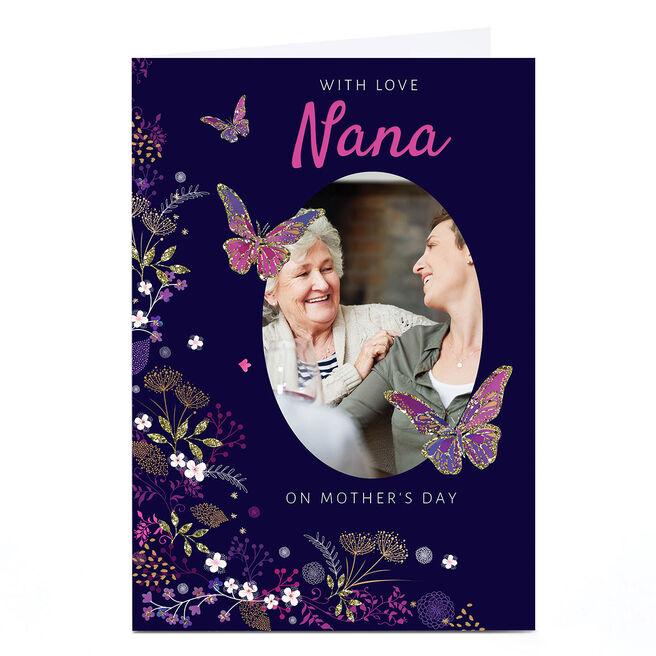 Photo Kerry Spurling Mother's Day Card - Nana, Butterflies