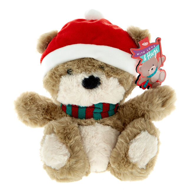 Winter Hugs Bear Christmas Soft Toy
