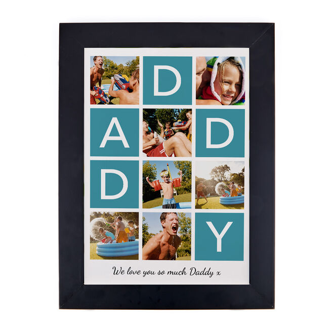 Personalised Photo Upload Daddy Print - 7 Photos