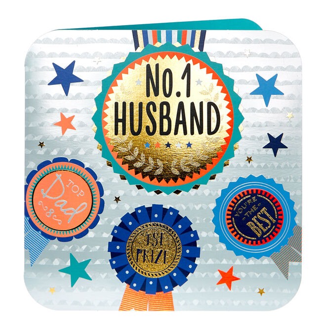Platinum Collection Father's Day Card - No.1 Husband