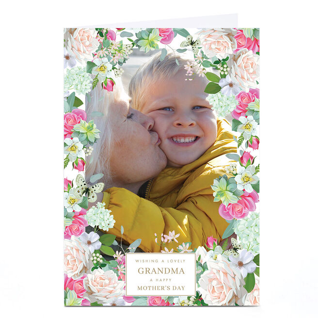 Photo Mother's Day Card - Floral Border