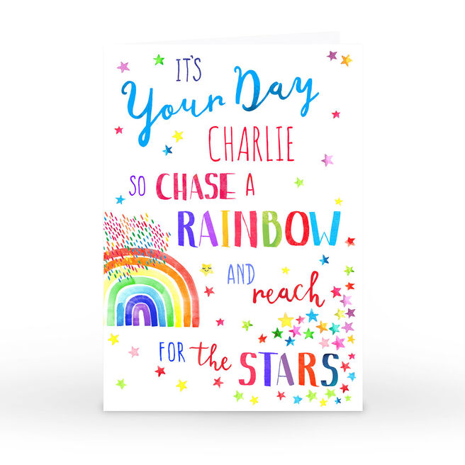 Personalised Nik Golesworthy Card - Chase A Rainbow