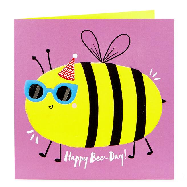 Birthday Card - Happy Bee-Day!