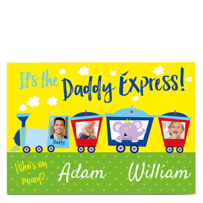 Photo Card - The Daddy Express - Two Names