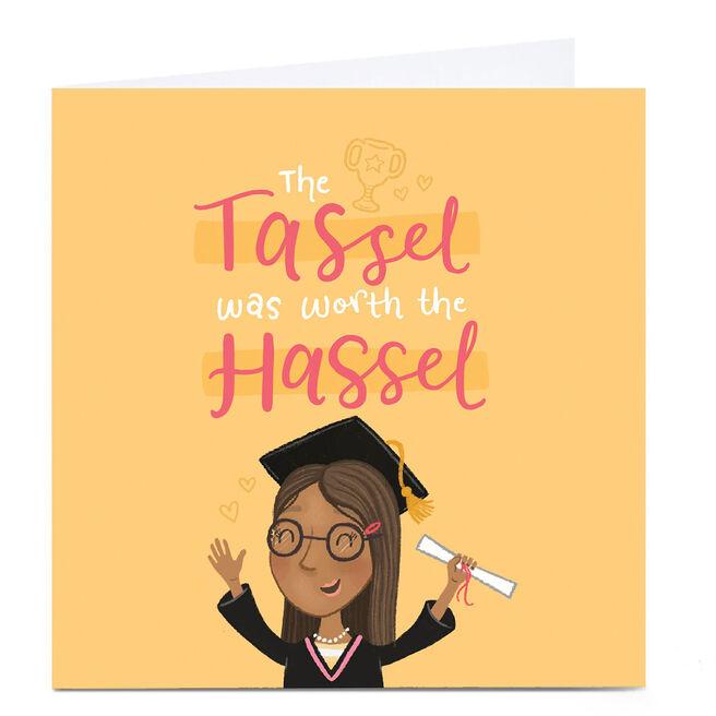 Personalised Blue Kiwi Graduation Card - Tassel Hassel
