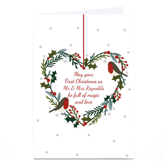 Personalised Christmas Card - Magic and Love