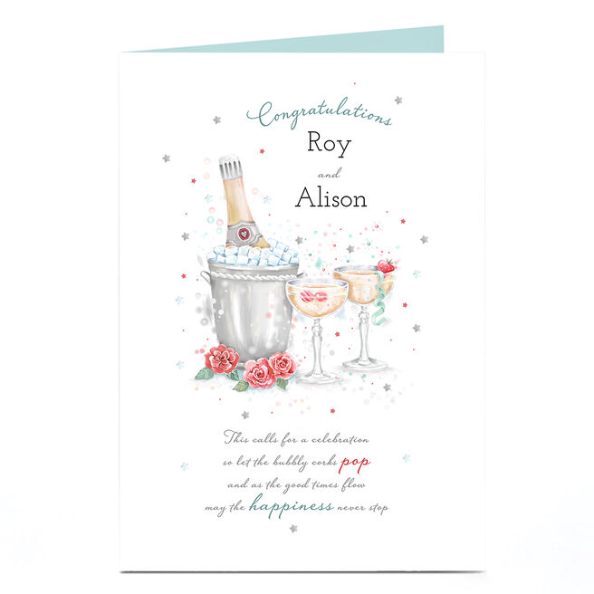 Personalised Congratulations Card - Happiness Never Stops