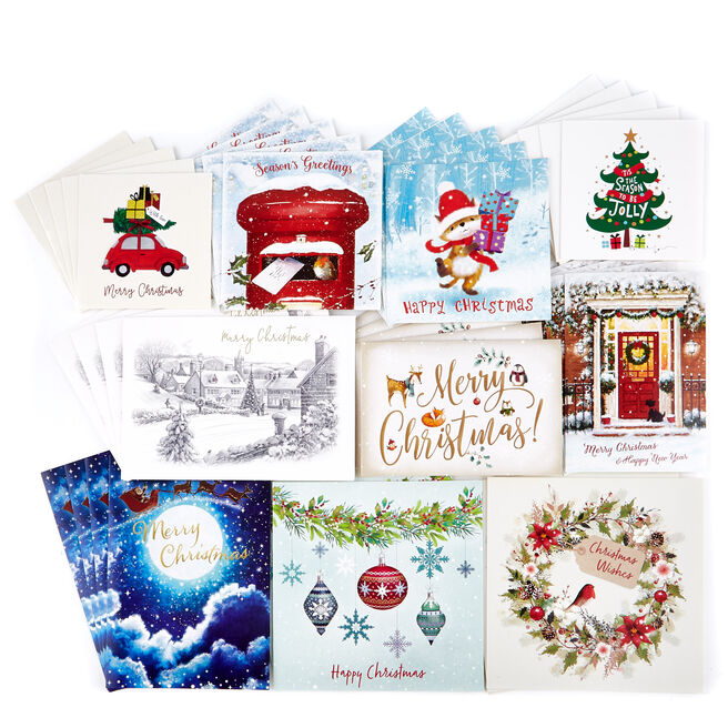 Boxed Value Christmas Cards - Pack of 50 | Card Factory