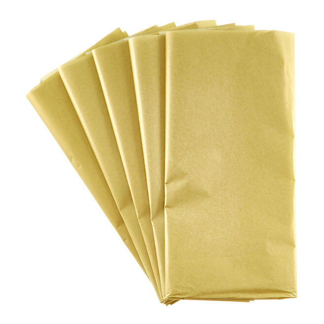 Gold Tissue Paper - 10 Sheets
