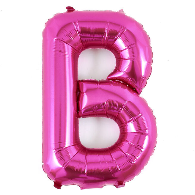 Pink Letter B Air-Inflated Balloon