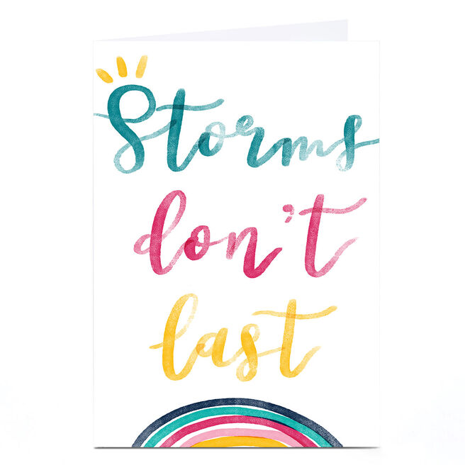 Personalised Emma Valenghi Card - Storms Don't Last