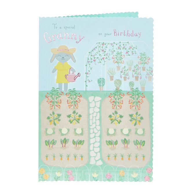 Birthday Card - Special Granny, Gardening