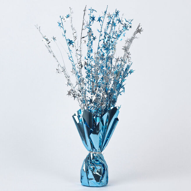Blue Star Foil Balloon Weight Centrepiece