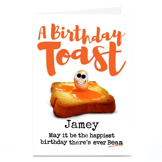 Personalised PG Quips Birthday Card - Birthday Toast