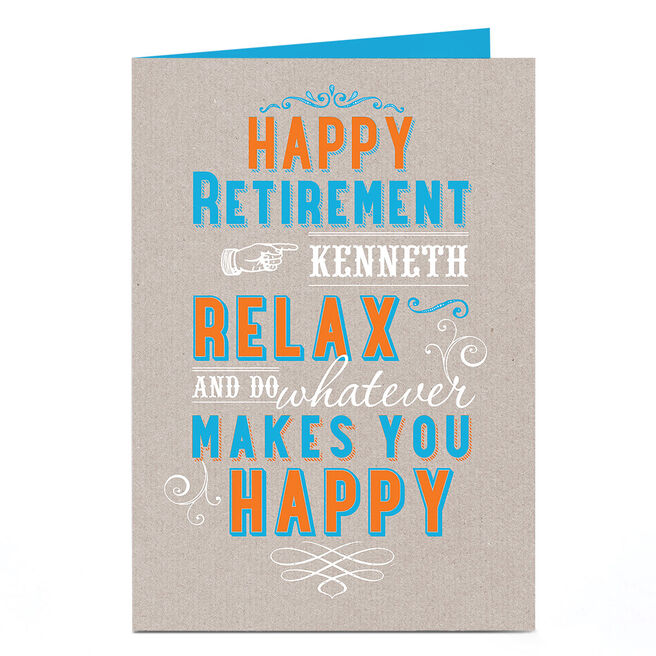 Personalised Retirement Card - Relax