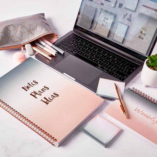 Rose Gold & Grey Ombre Stationery Range
