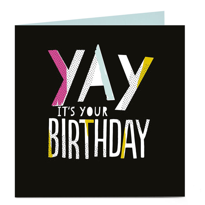 Personalised Bright Ideas Card - Yay It's Your Birthday