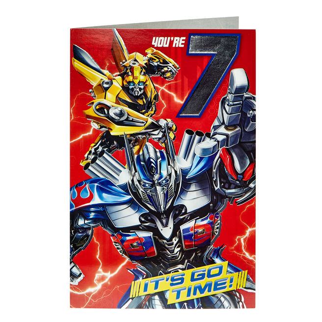Transformers 7th Birthday Card
