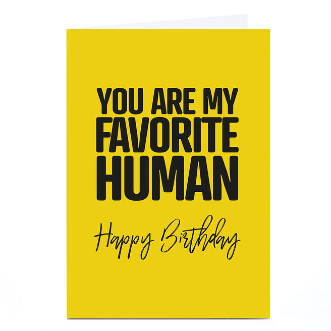 Personalised Punk Birthday Card - Favorite Human