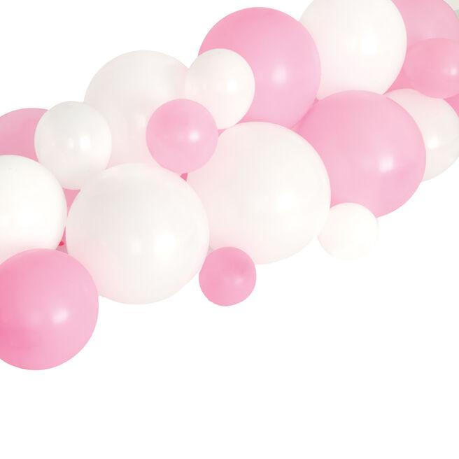 Pink & White Balloon Garland Table Runner Kit