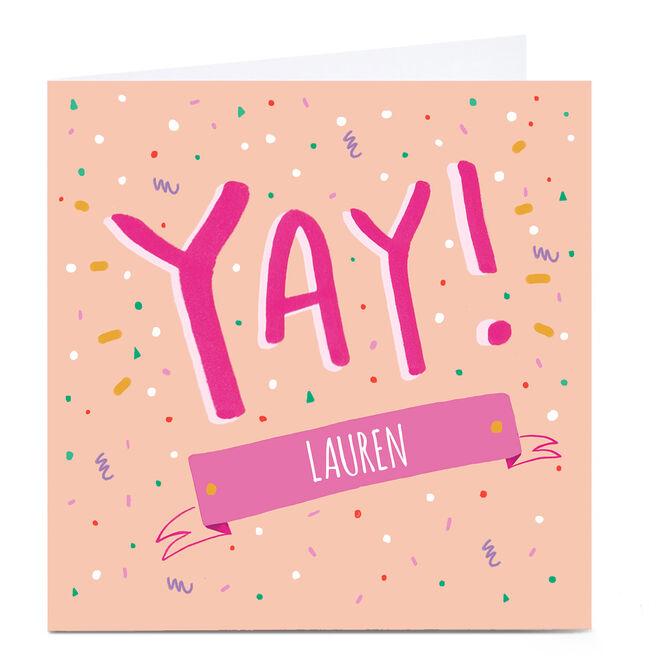 Personalied Carol Richardson Card - YAY Pink