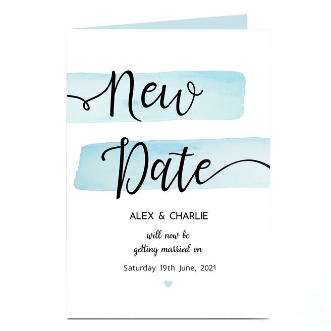 Personalised Wedding Invitation - New Date