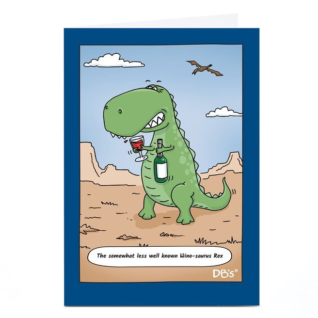 Personalised DB's Card - Wino-saurus Rex