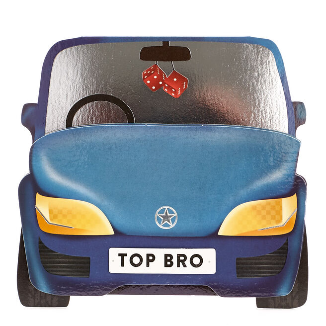 VIP Collection Birthday Card - Top Brother Car