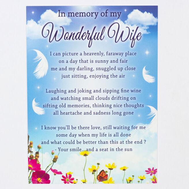 Memorial Card - Wonderful Wife