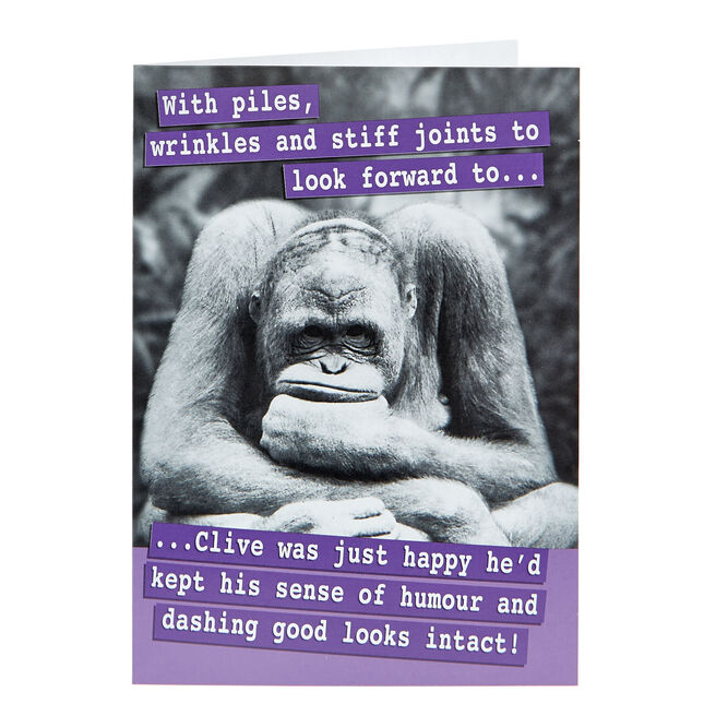 Birthday Card - Wrinkles & Stiff Joints