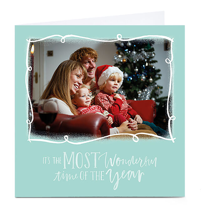Photo Christmas Card - Most Wonderful Time of Year