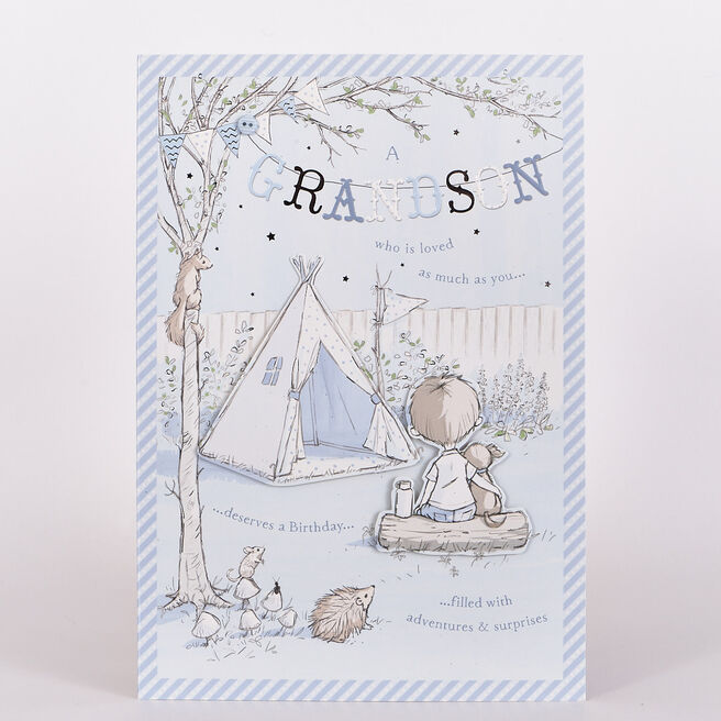 Signature Collection Birthday Card - Grandson Camping