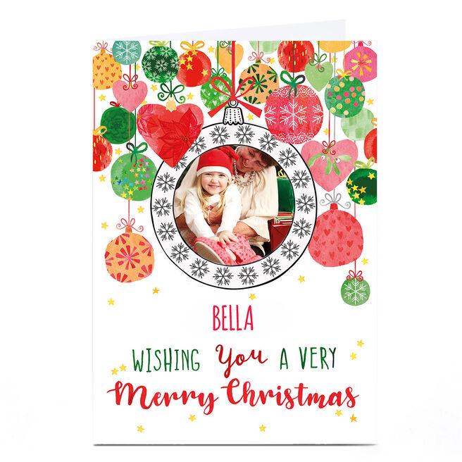 Photo Nik Golesworthy Christmas Card - Baubles