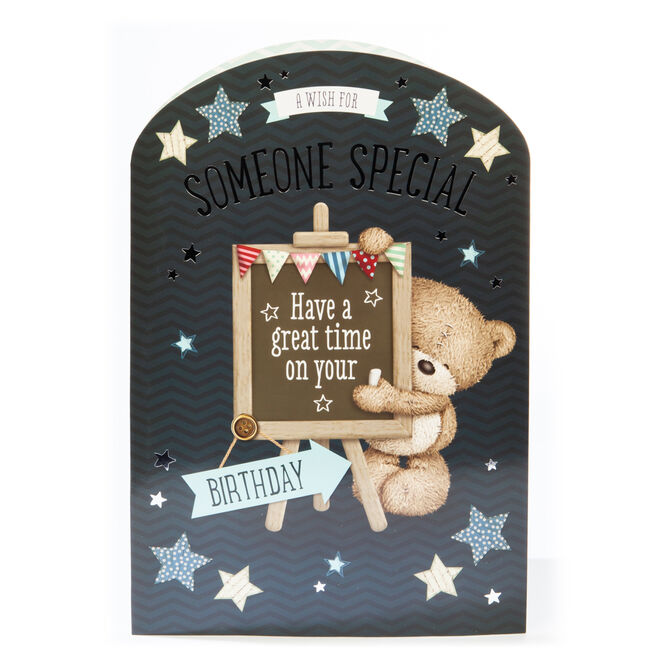 Giant Hugs Bear Birthday card - A Wish For Someone Special